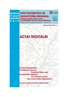Tapa Actas Digitales del XXXII Encuentro de Geohistoria Regional (2012)