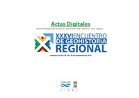 Tapa Actas Digitales del XXXVI Encuentro de Geohistoria Regional (2016)