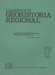 tapa cuadernos de geohistoria regional 17